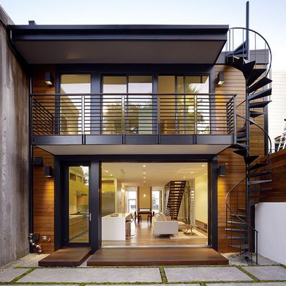 Roof Deck Stair Design Exterior Stairs Balcony Design