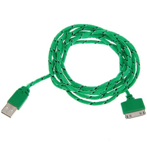 USB Data Charger Cable Braid Fabric Micro for iPhone 4 s Ipad 2 3 Green 1M  https://t.co/5ZtGIJEE4t https://t.co/EWAiTFa1LK