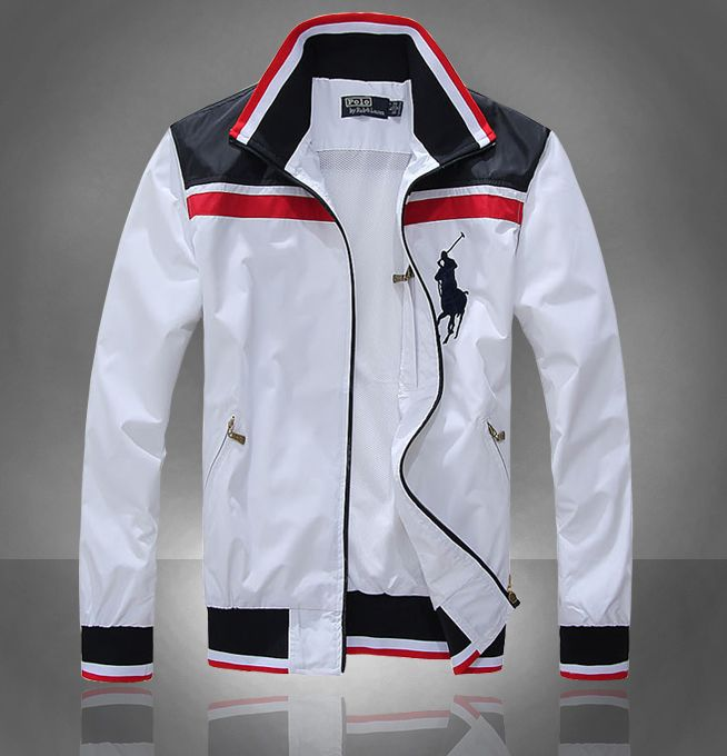 White jakcet big pony 2012 polo ralph lauren Men jacket outlet .