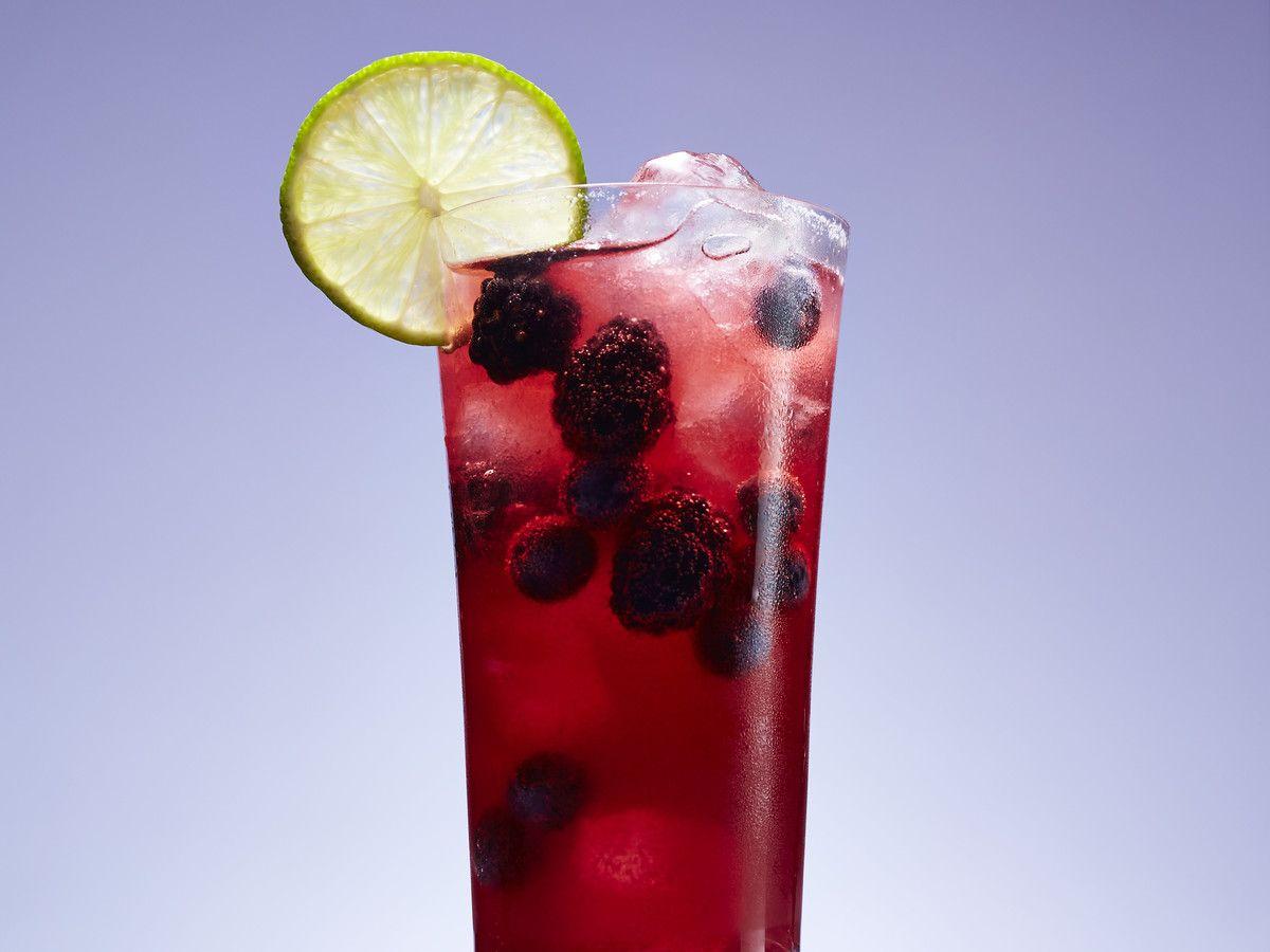 Black And Blue Sparkler Recipe Refreshing Summer Drinks Honey Cocktail Raspberry Beer