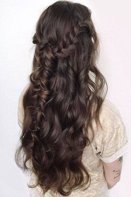 Braided Half Up-Do look on the stunning @forbeslaura who is wearing her Chocolate Brown Luxy Hair Extensions. <3 #LuxyHairExtensions
