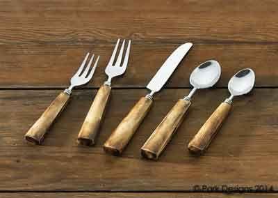 Flatware Bone Handle 5 Piece Place Setting Kolorful Kitchen