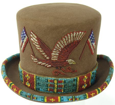 833da5e8280 Beaded Top Hat....from the mid-late 1900 s.....felt with curled brim..... beaded band