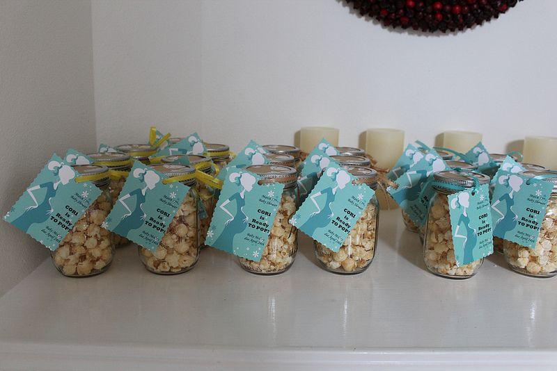 Mason Jar Popcorn Favors Baby Shower Ideas Pinterest Popcorn