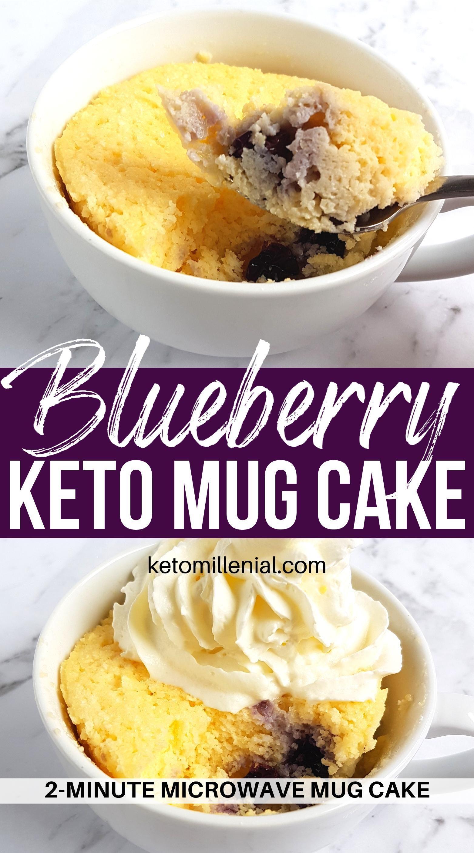 Low Carb Keto Blueberry Mug Cake | Recipe in 2020 | Low ...