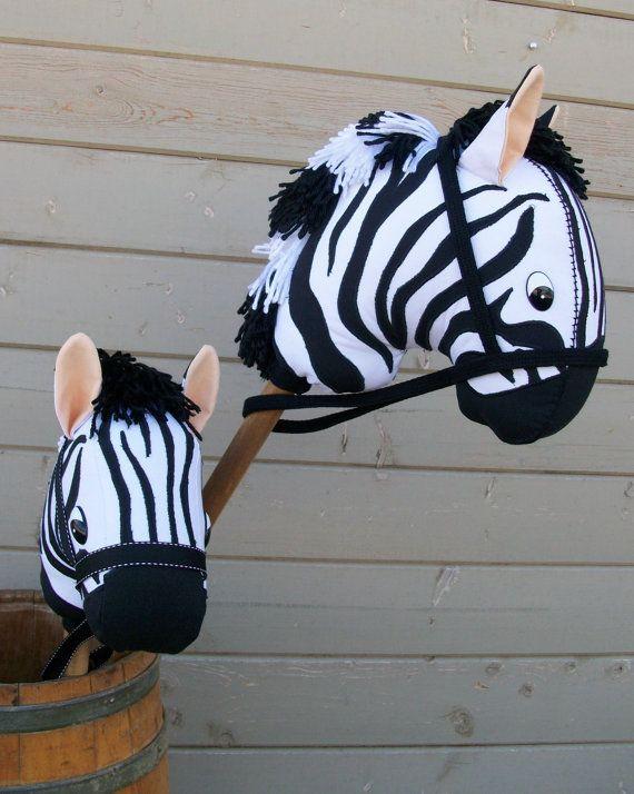 MADE to ORDER Zebra with applique stripes Stick di RusticHorseShoe