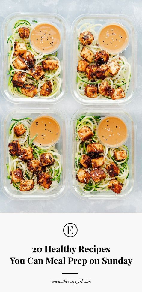 20 Healthy Recipes You Can Meal Prep on Sunday is part of Meal prep - for a better week ahead