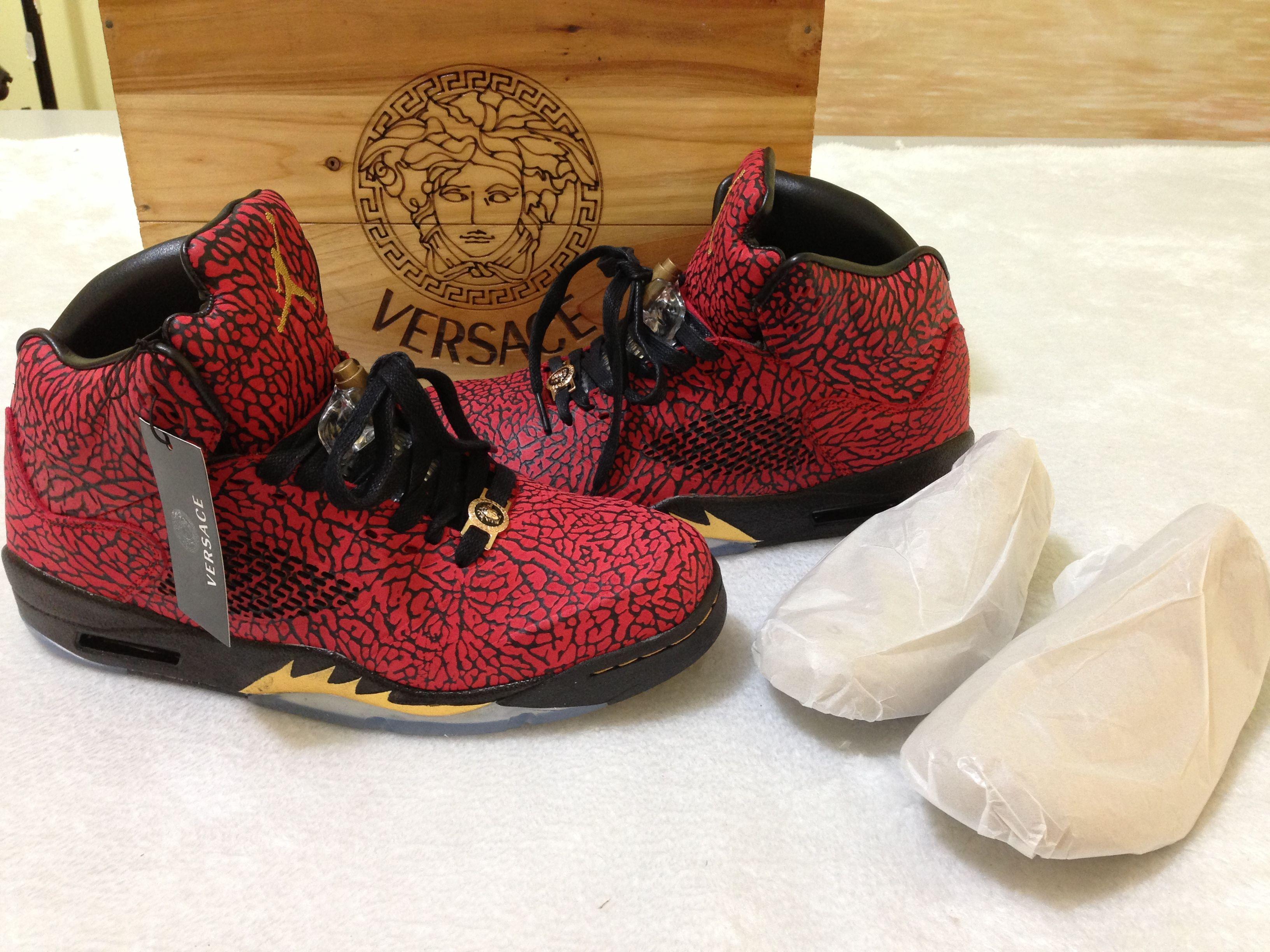 Versace Sneakers Jordans 1st look at the...