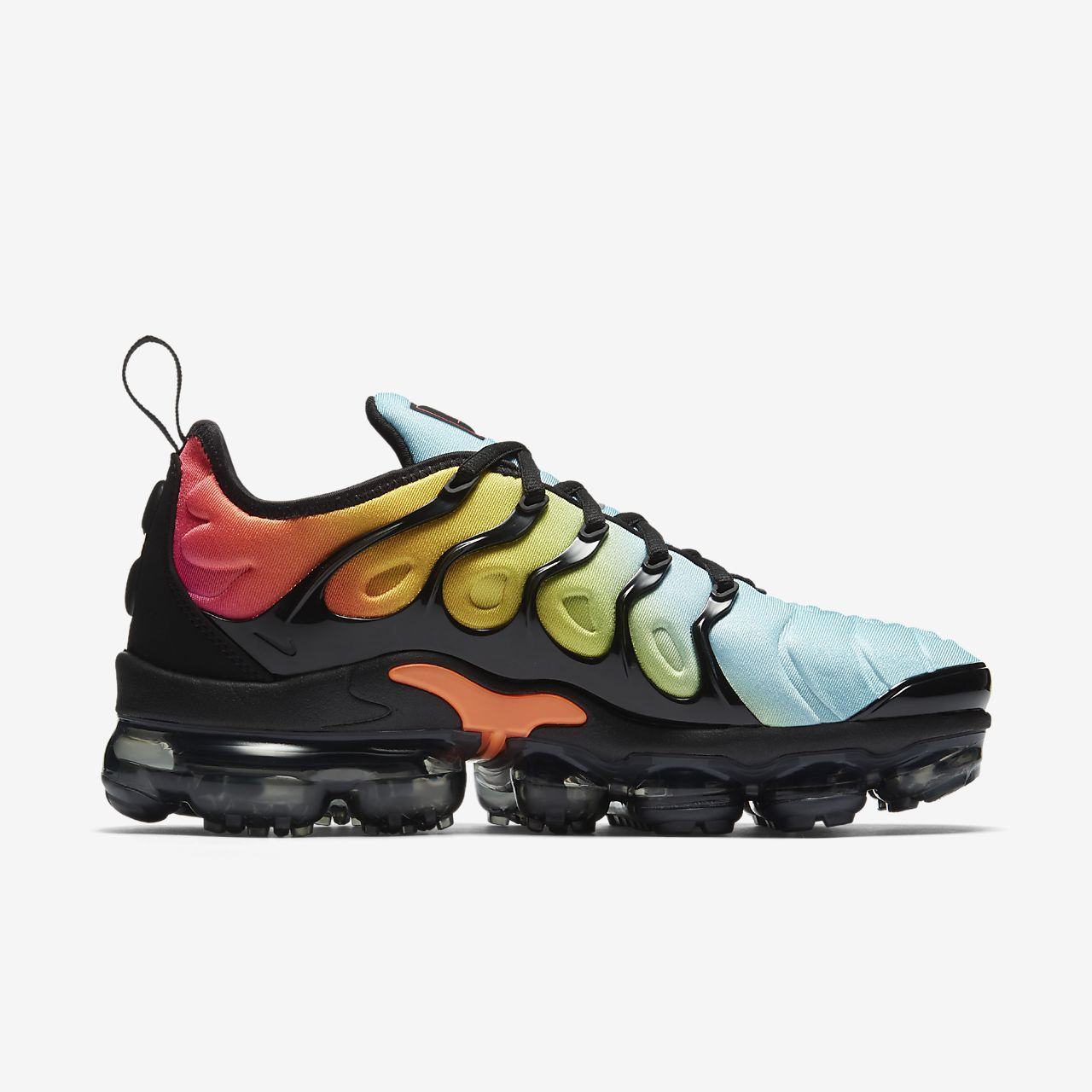 Nike Air VaporMax Plus Women's Shoe, Black/Bleached Aqua/Vivid Sulfur