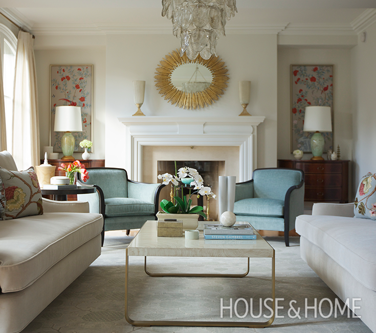 33 Traditional Living Room Design: A Traditional Living Room With 1930s Glamor Inspired By