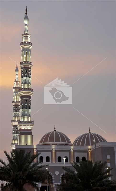 مسجد الملك فهد بمحافظه عيون الجواء ويعد من أكبر المساجد بالمملكة العربية السعودية Taj Mahal Landmarks Building