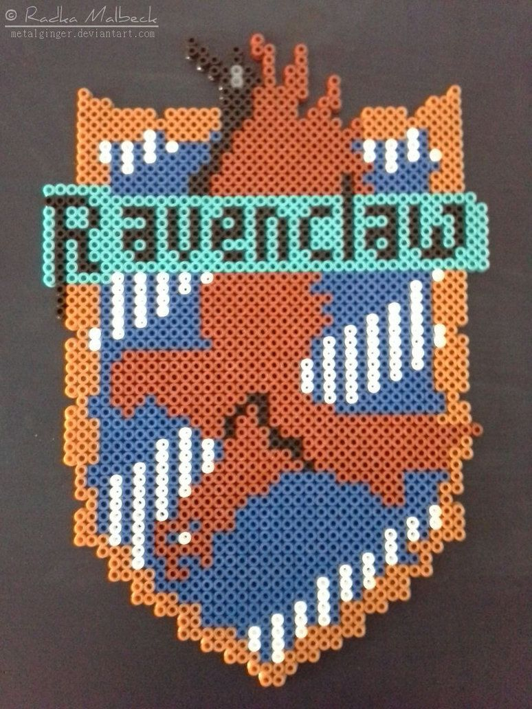 Ravenclaw - Harry Potter hama beads by MeTaLGiNGeR   Perler Patterns ...