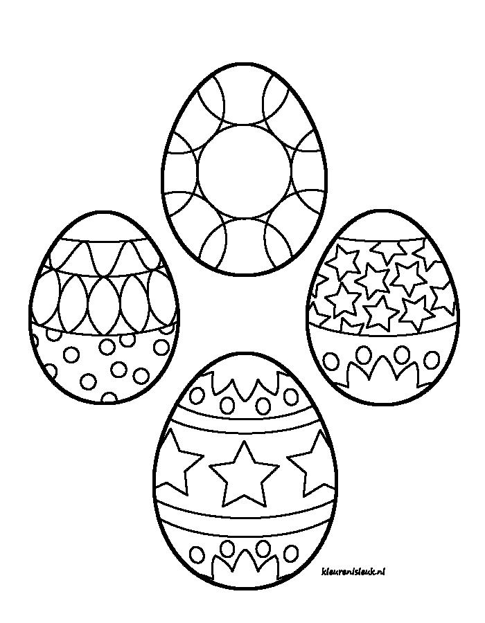 paaseieren pasen kleurenisleuk nl kleurplaten tekenen