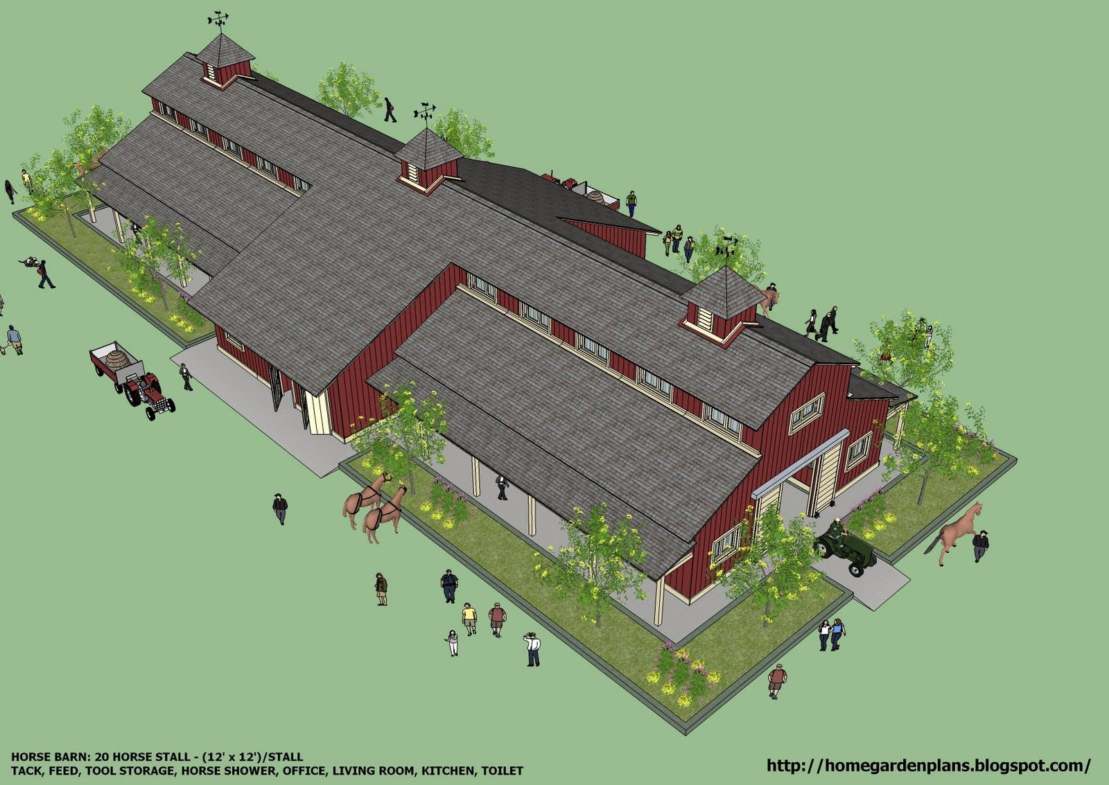 htm for horse blueprints professional barns plans barn with sheds leanto free overhang