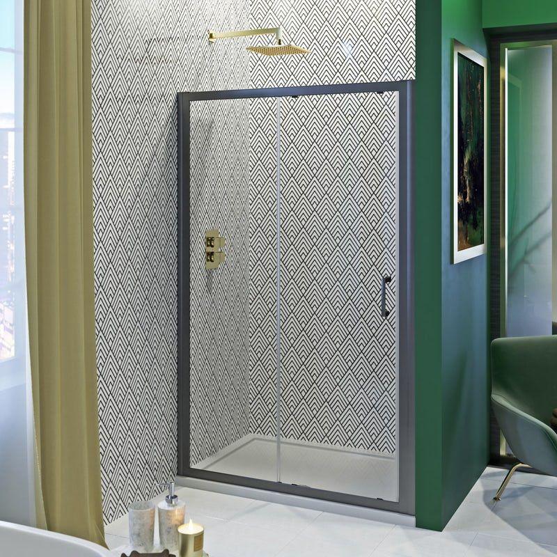 showerwall custom black geo acrylic shower wall panel on shower wall panels id=60774