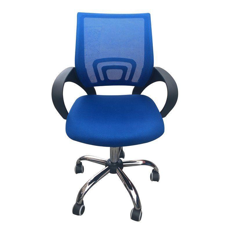 Ergonomic Mesh Office Chair Blue Color Swivel Arm Rest Adjustable Height Tilt Office Chair Black Office Chair Home Office Chairs