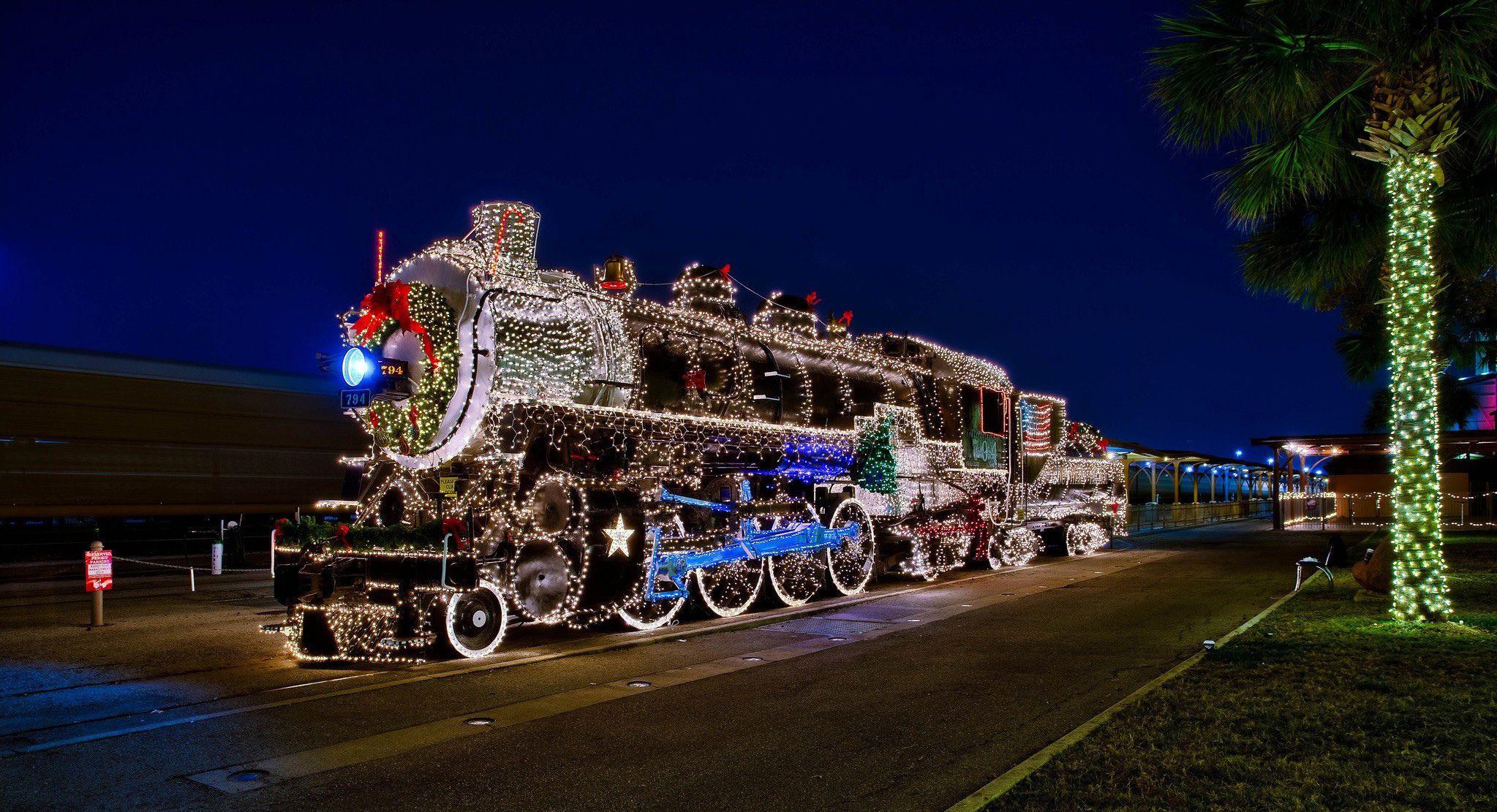 holidays trains retro fairy lights train christmas lights