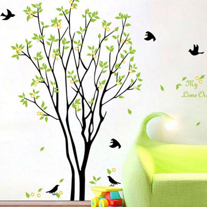 pop tree bird quote remove vinyl wall decal mural home art diy decor