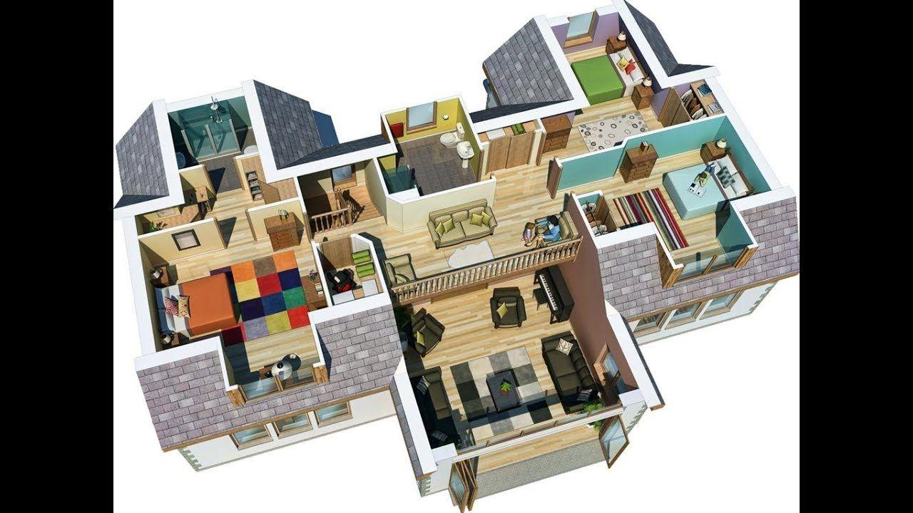 Autocad Complete 2d And 3d House Plan Floor Plan Design 3d Home Design Autocad