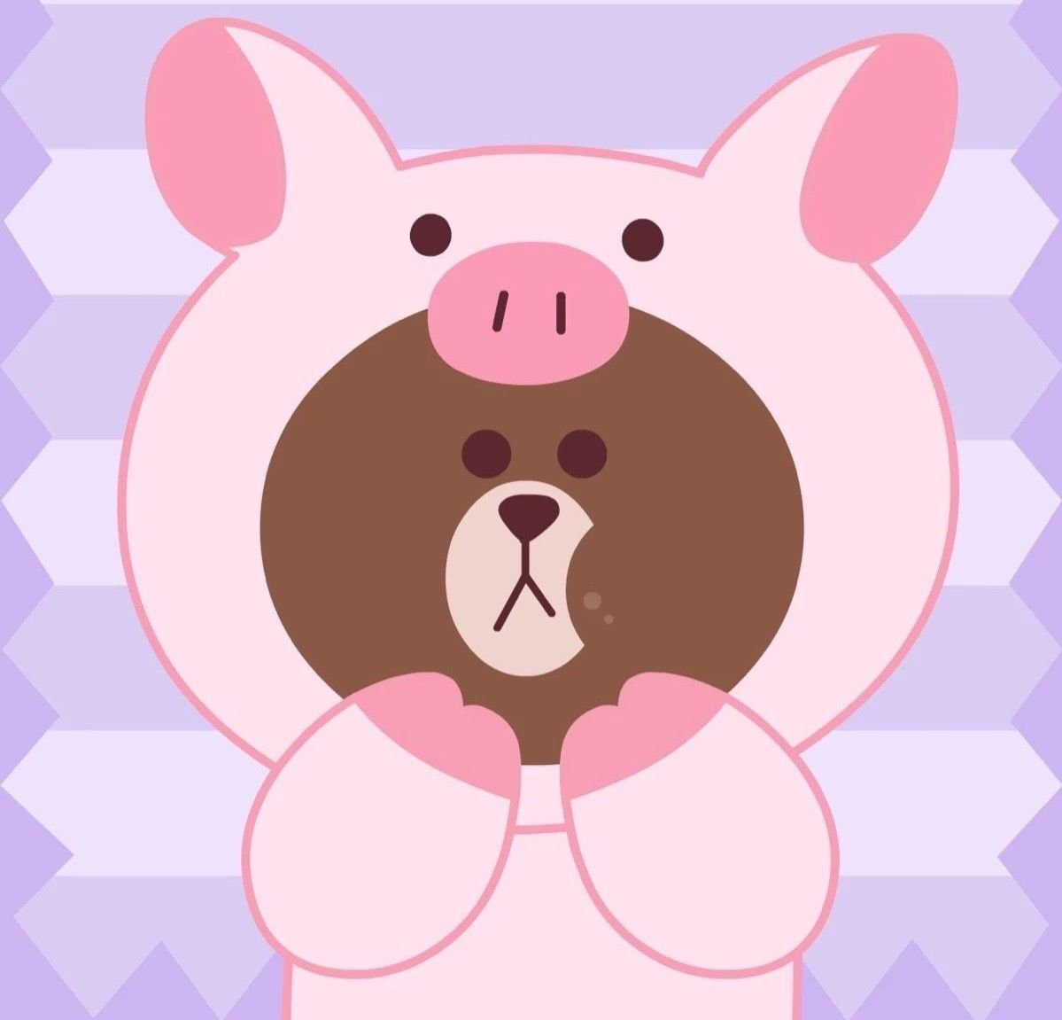 Iphone Backgrounds Wallpaper Wallpapers Line Friends Disney Characters Pigs Hello Kitty Brown Searching