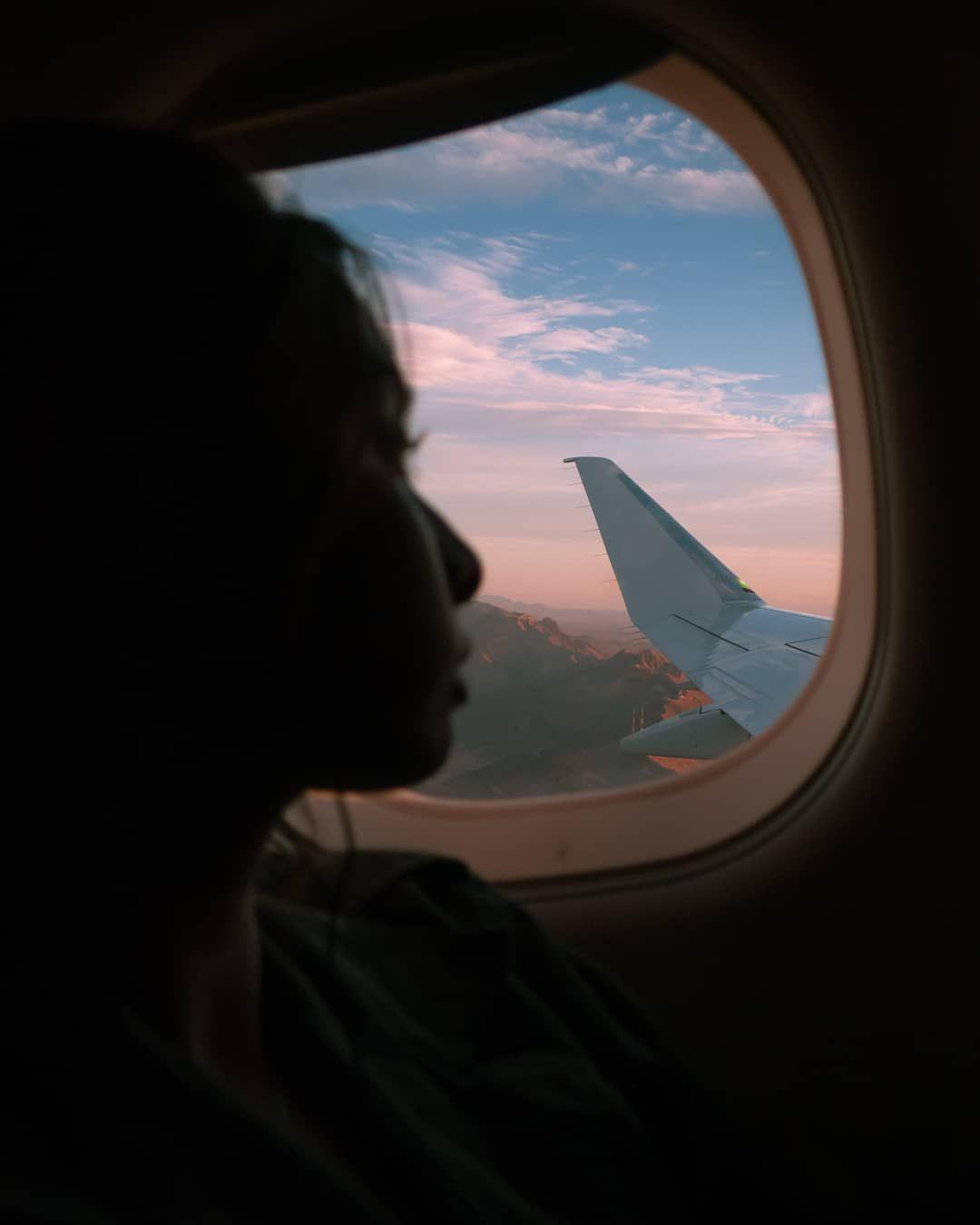 Audrie Storme Audriestorme Travel Airplane Selfie Windowview