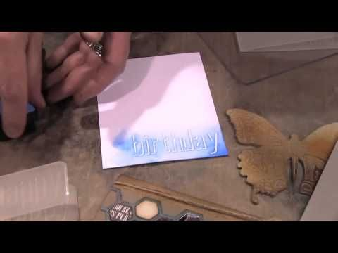 Tim Holtz introduces Sizzix ShadowPress Debossing techniques