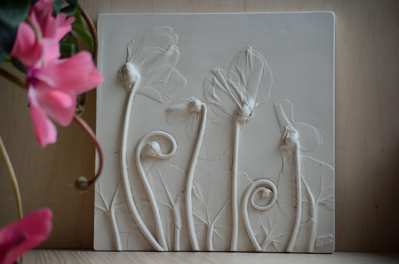 alpine violet decoration relief picture gift wall in 2018 geschenk reliefbilder aus gips. Black Bedroom Furniture Sets. Home Design Ideas