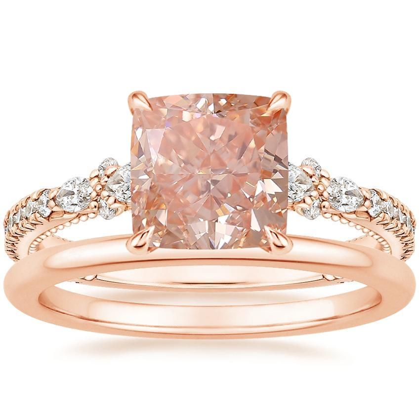 14K Rose Gold Primrose Diamond Ring with Petite Comfort