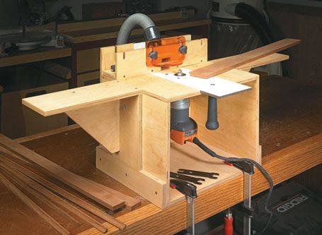 Router table mortiser edge jointer this compact easy to build woodworking project plans from the editors of woodsmith magazine greentooth Images