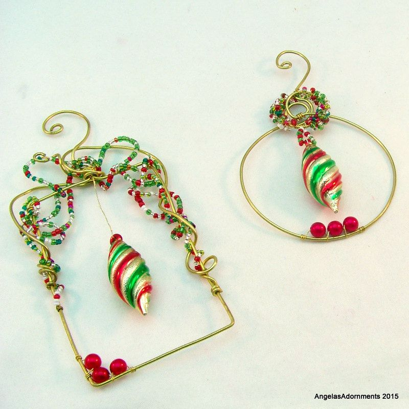 Beaded Christmas Ornaments | Bead and Wire Christmas Tree Ornaments ...