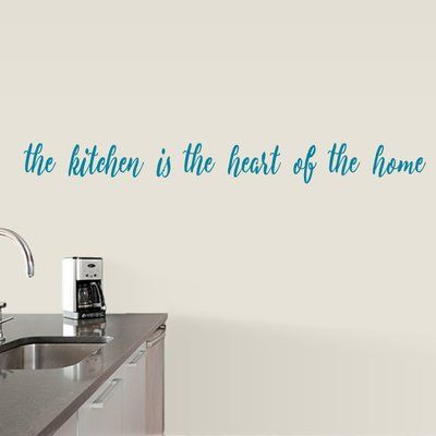 sweetums wall decals the kitchen is the heart of the home wall decal