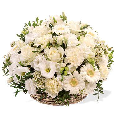 corbeille de fleurs blanches piece montee et mariage naissance pacs pinterest fleurs. Black Bedroom Furniture Sets. Home Design Ideas