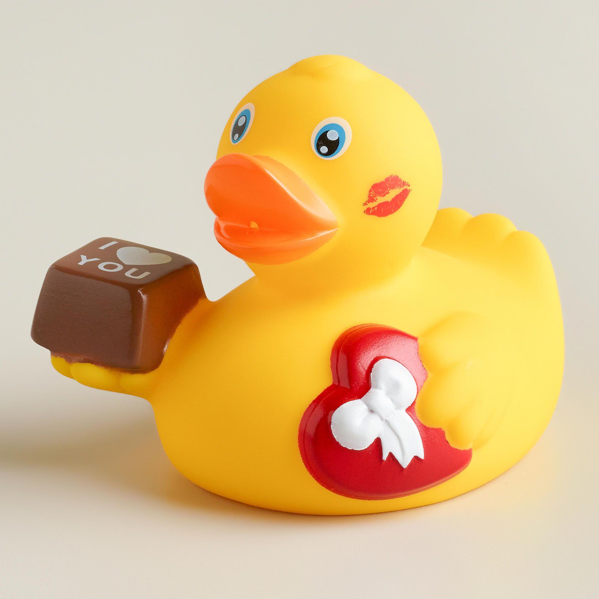 Valentine\'s Day Rubber Duck Bath Toy | World Market | Cool Stuff ...