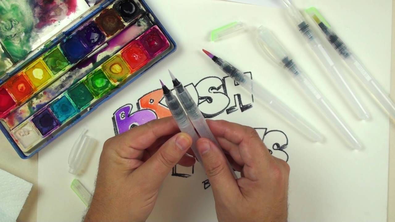 Brush Pens By Mudder Review Draw With Watercolor Pens Pen