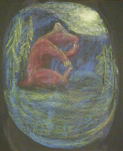 B For Bear Chalkboard Drawings Homeschool Art Drawings