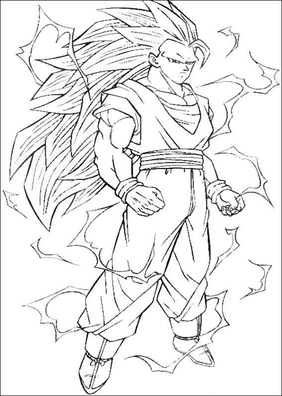 Dragon Ball Z Ausmalbilder. Malvorlagen Zeichnung druckbare nº 93 ...