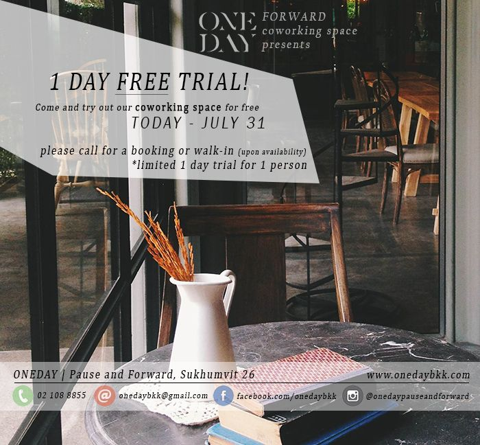 ONEDAY Co-Working Space : July SPECIAL !