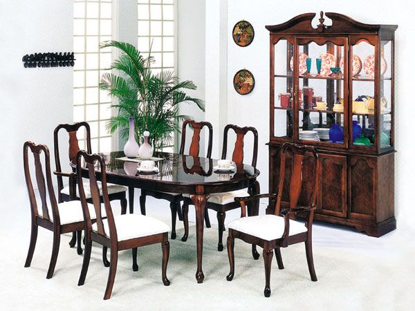 queen ann cherry 7 pc dining room set (2243s) by acme furniture, Esstisch ideennn