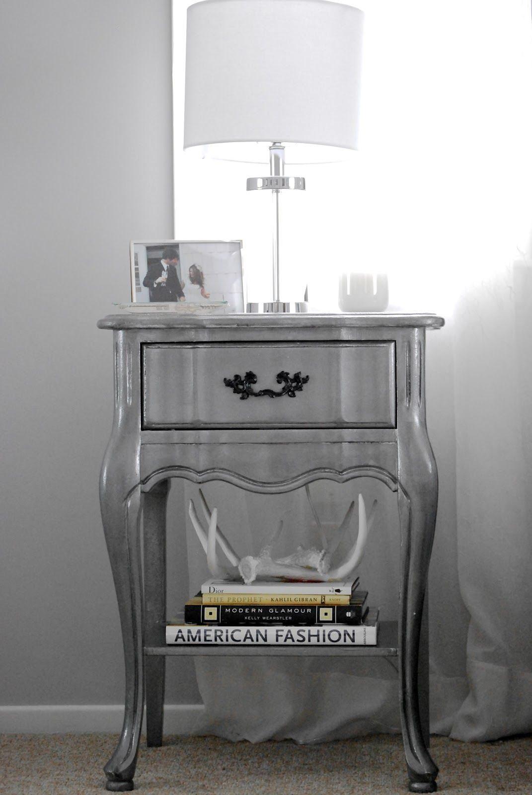 Silver Shabby Chic Bedroom Furniture November Grey Silver Nightstand Diy From Outdated Shabby Chic