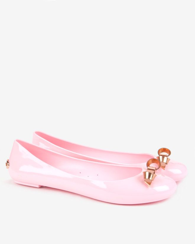 9d05660e882a78 Slim bow jelly pumps - Light Pink