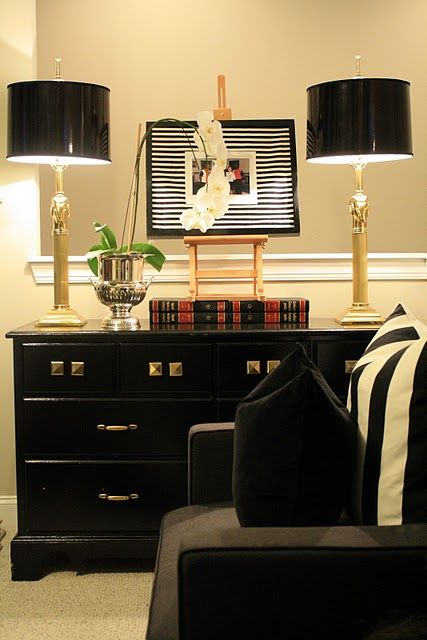 black painted furniture Black Furniture Pinterest Black