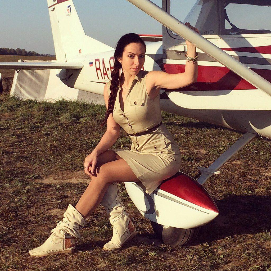 Фотосессия с самолетом цесна москва