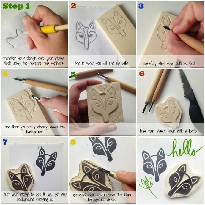 Make your own rubber stamps Rubber Stamp Holiday Workshop Ideas
