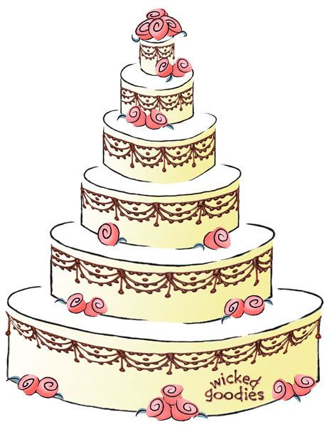 cartoon picture of a wedding cake how to write a cake contract signature cakes 12418