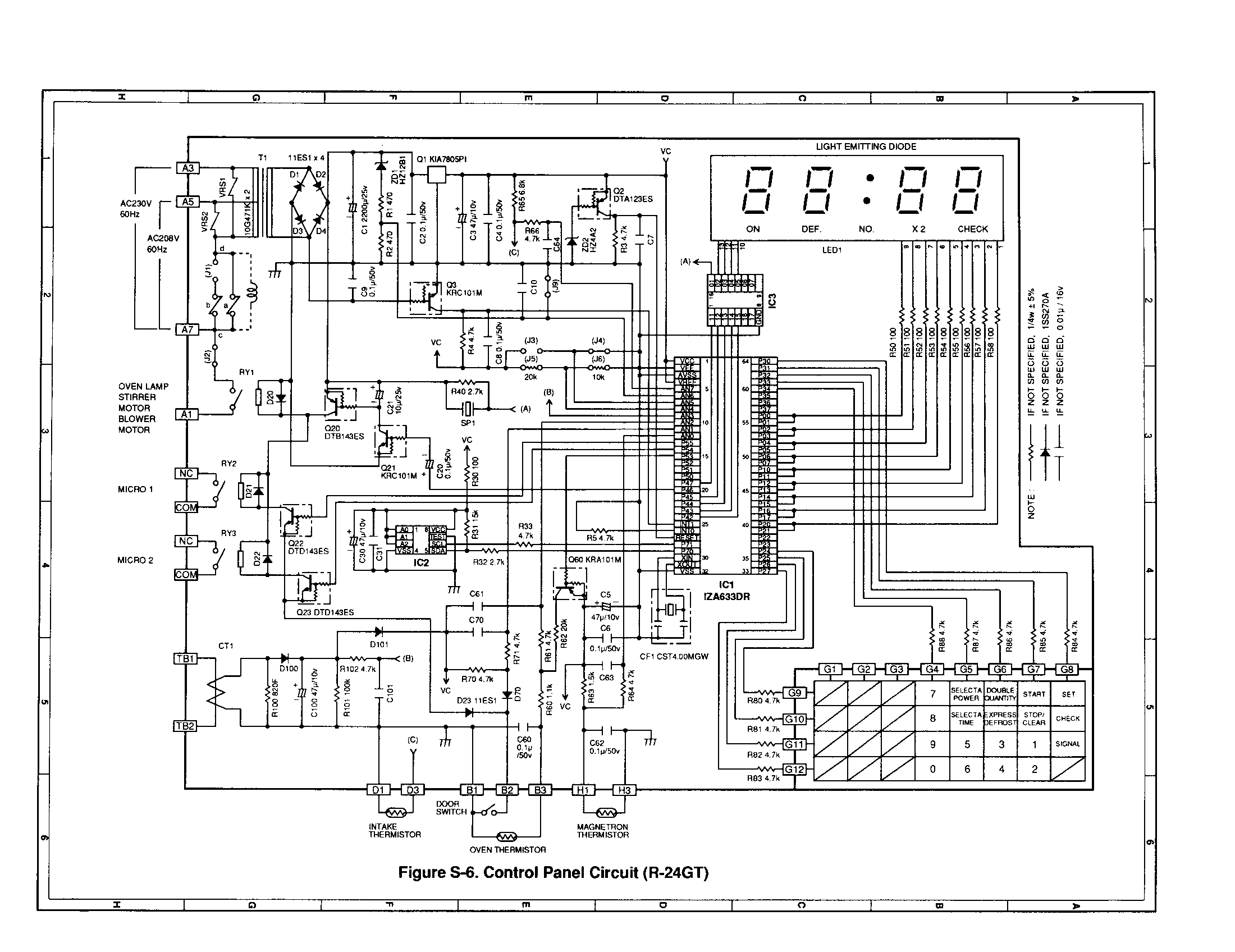 panasonic microwave oven schematic diagram