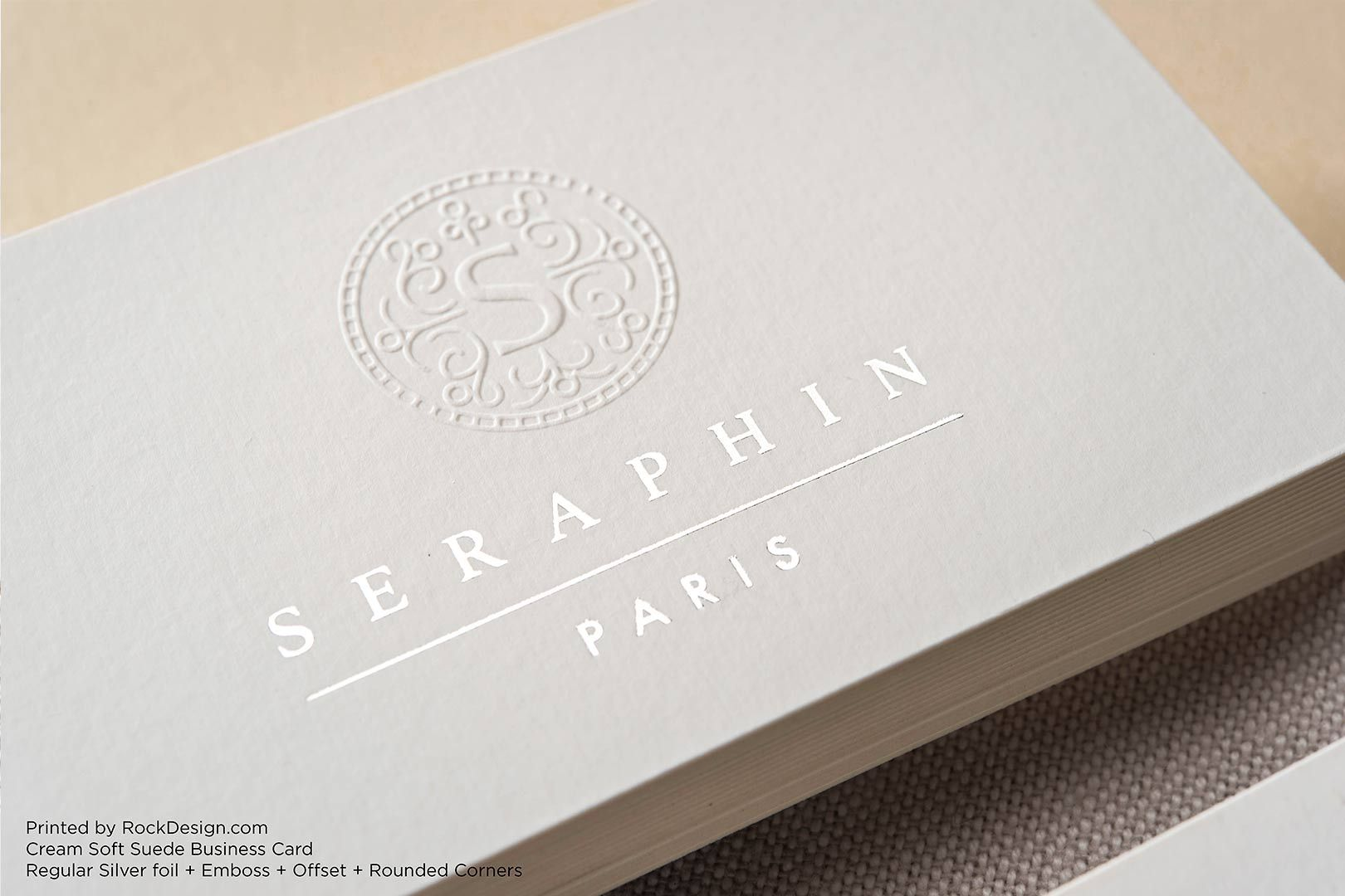 Soft Suede Business Cards | RockDesign Luxury Business Card Printing ...