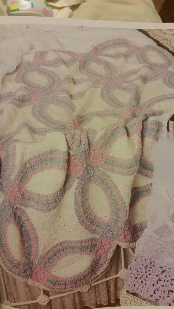 Made To Order Double Wedding Ring Afghan Throw Blanket Anniversary