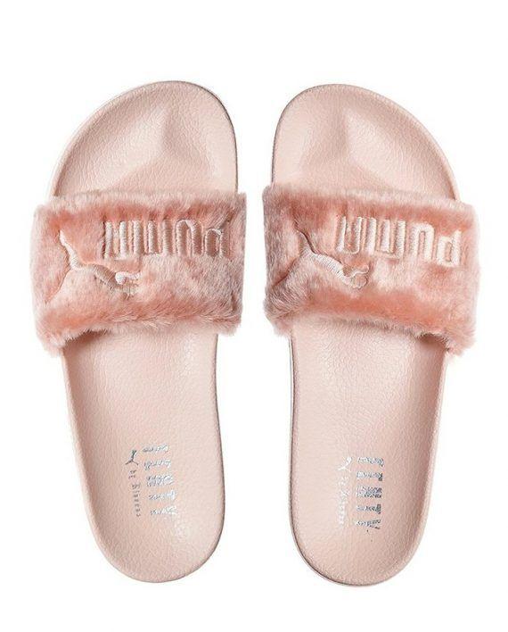 bab13e8dc571 Puma X Rihanna Fenty Leadcat Slippers Sandals Flip-flops Women s Fluffy Fur  Sliders in Shell   Pink – Webstore of luxury brands