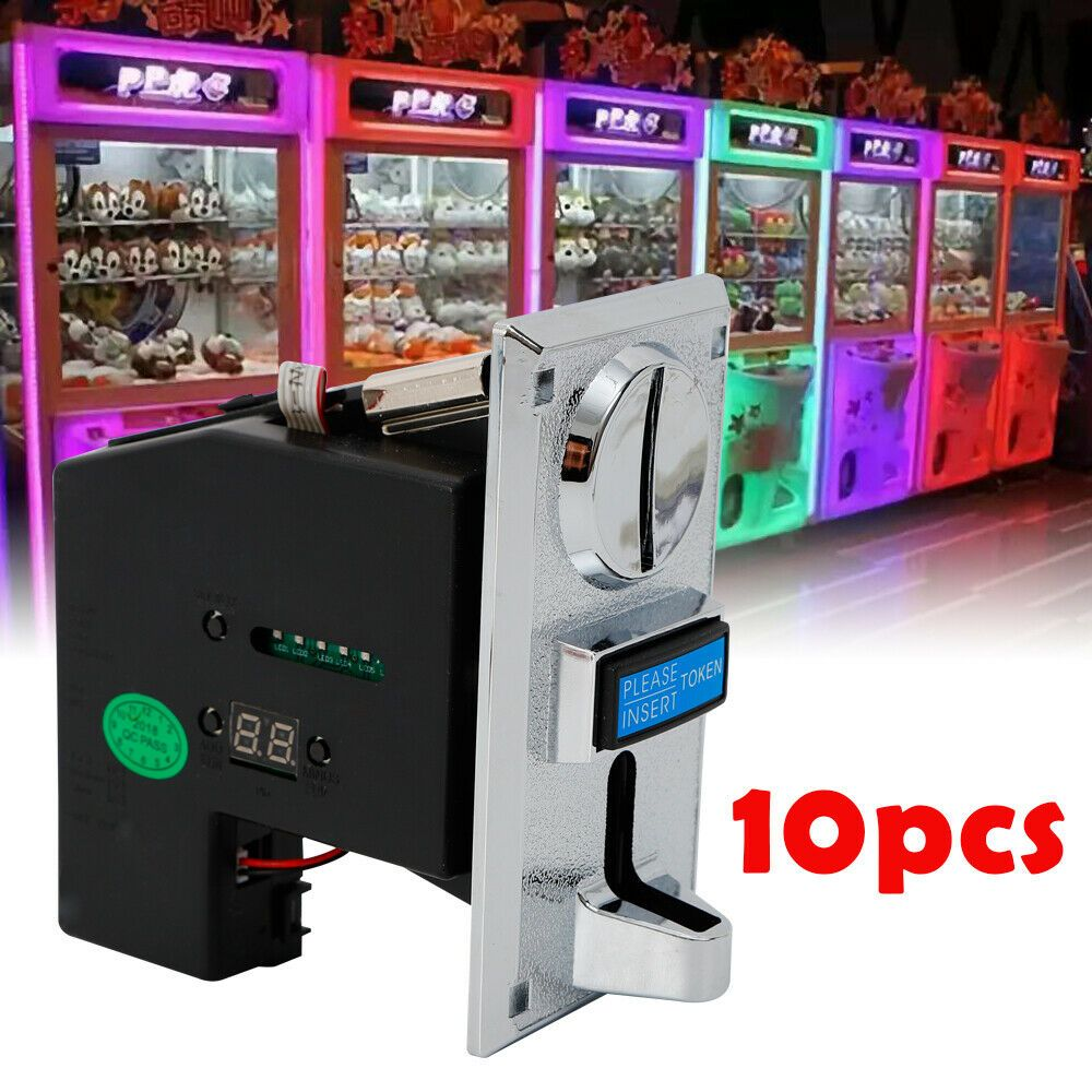 Vending Machines Game Parts Lot 10Pcs Multi Coin Acceptor Selector for Arcade