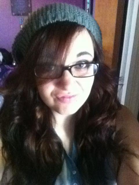 Curls and a Beanie.